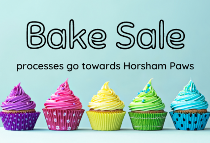 Bake Sale For Horsham PAWS